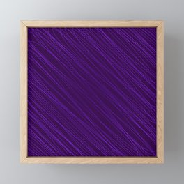 Vintage ornament of their violet threads and repetitive intersecting fibers. Framed Mini Art Print