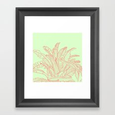 Palm Beach - pink and green Framed Art Print