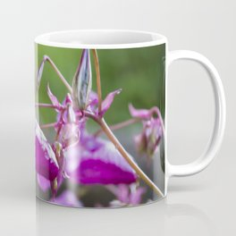 Indian Balsam Bokeh on the banks of the River Tay in Scotland Coffee Mug