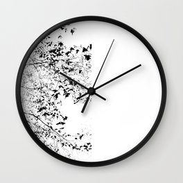 Abstract Black and White Tree Photograph Wall Clock
