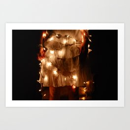Dress & lights Art Print
