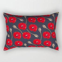 Poppy Pattern Rectangular Pillow
