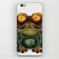 frog iPhone & iPod Skins featuring Frog by Riccardo Pertici