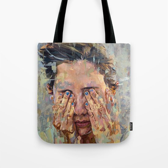 blue nails Tote Bag