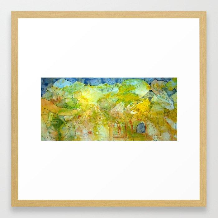 Annunciation: Post Framed Art Print