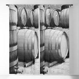 Wine barrels in Wine Estate Cellar Blackout Curtain