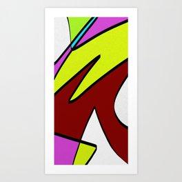 Majuscules Art Print