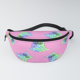 Topsy Turvy Owls Pink Fanny Pack