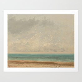 Calm Sea by Gustave Courbet, 1866 Art Print