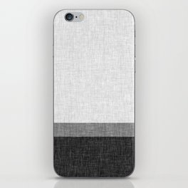 Black and White Graphic Burlap Pattern Stripe iPhone Skin