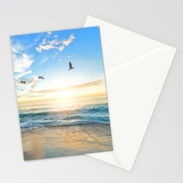 Blue Sky with Birds Stationery Cards