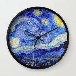 "Vincent Van Gogh "" Starry Night "" Wall Clock"