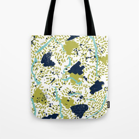 Trenton - modern minimal abstract painterly palette urban brooklyn cali city beach painting dorm  Tote Bag