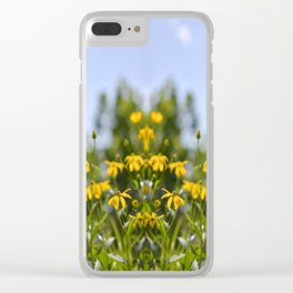 more tests flower print Clear iPhone Case
