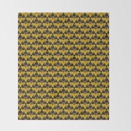 Nuclear Yellow & Black Nuke Sign Throw Blanket