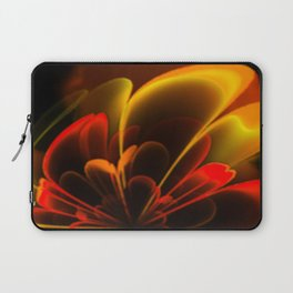 Stylized Half Flower Red Laptop Sleeve