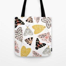 Moth's Diverse Beauty Pattern Tote Bag
