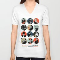 jazz V-neck T-shirts featuring Jazz  by Prelude Posters