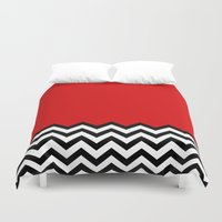 lynch Duvet Covers featuring Black Lodge Dreams (Twin Peaks) by Welcome to Twin Peaks