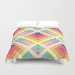 Retro Rainbow Duvet Cover
