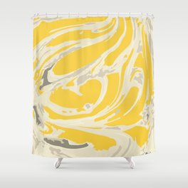 Paint - yellow swirl Shower Curtain