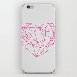 Heart Graphic Neon Version iPhone Skin