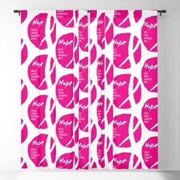 Vector watercolor pink ribbon - breast cancer awareness symbol Blackout Curtain