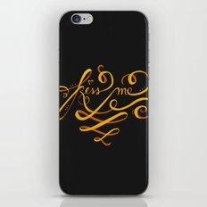 Kiss Me Typo iPhone & iPod Skin