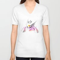 gengar V-neck T-shirts featuring Mega-Gengar by R-no71