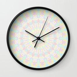 Pastel Rainbow Kaleidoscope 2 Wall Clock