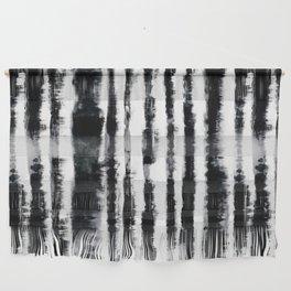 Tie-Dye Shibori Stripe BW Wall Hanging