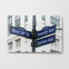 Road signs in Midtown of New York Metal Print