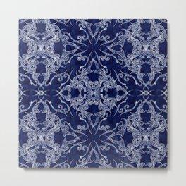 Victorian Era royal blue Metal Print