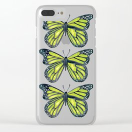 Lime Butterfly Clear iPhone Case