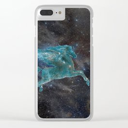 Pegasus and Galaxy Clear iPhone Case