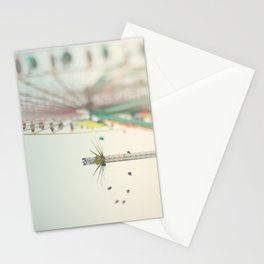 a carnival ferris wheel & swings, the last days of summer ... Stationery Cards