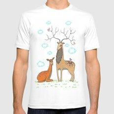 Deer White Mens Fitted Tee MEDIUM