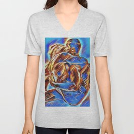 Safe in His Arms Unisex V-Neck