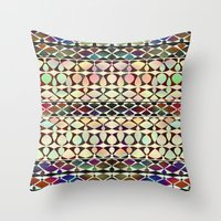 geo Throw Pillows featuring GEO by Klara Acel