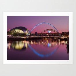 River Tyne Sunset Art Print