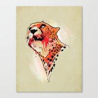 cheetah Canvas Prints featuring CHEETAH by KUI29