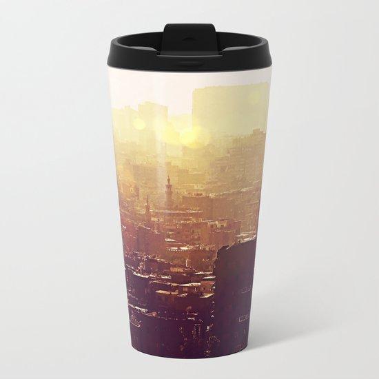 Sunset over Cairo Metal Travel Mug