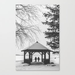 Winter is better with a friend Canvas Print