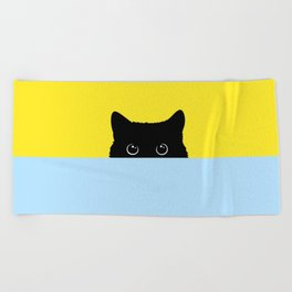 Kitty Beach Towel