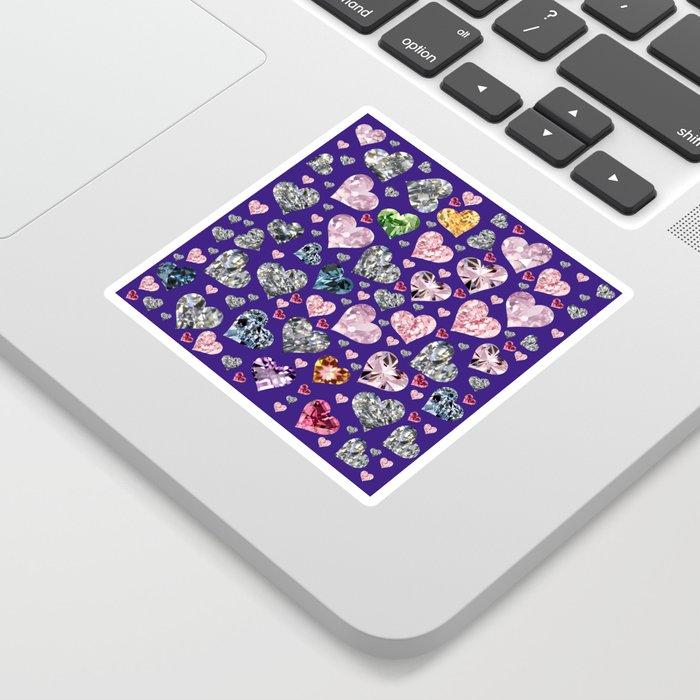 Heart Diamonds are Forever Love Violet Sticker