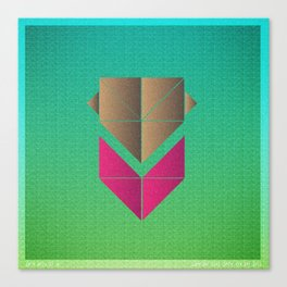 Music in Monogeometry : The Head and the Heart Canvas Print