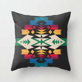 American Native Pattern No. 291 Throw Pillow