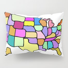 American States Clipart Drawing Pillow Sham