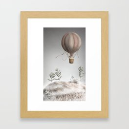 Morning Balloon Framed Art Print