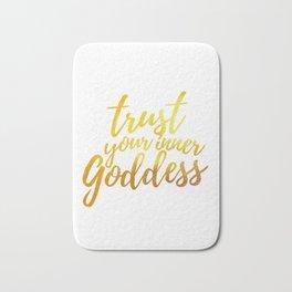Trust Your Inner Goddess (Gold) Bath Mat